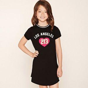 Forever 21 Girls Los Angeles T-Shirt Dress
